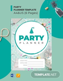 Free Basic Party Planner Template