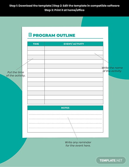 Basic Party Planner Printable