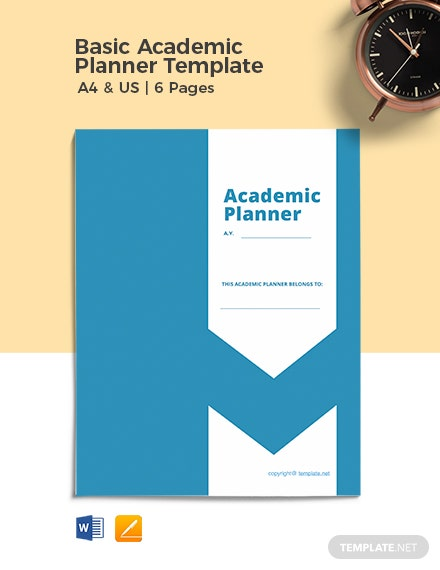Free Basic Academic Planner Template