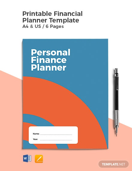 Free Printable Financial Planner Template
