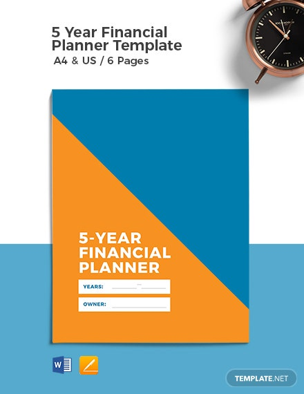 5 Year Financial Planner Template