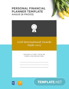 Personal Financial Planner Template