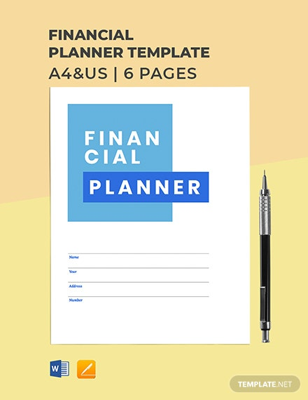 Family Financial Planner Template