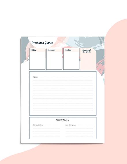School Planner Example