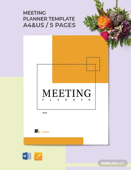 Meeting Planner Template