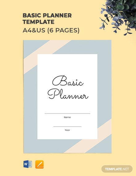 Free Basic Planner Template