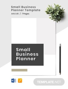 Small Business Planner Template
