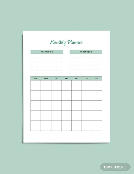 Life Planner format