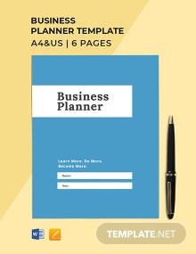 Business Planner Template