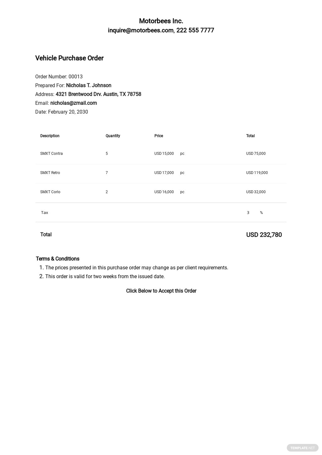 Free Vehicle Purchase Order Template.jpe