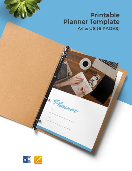 Free Printable Planner Template
