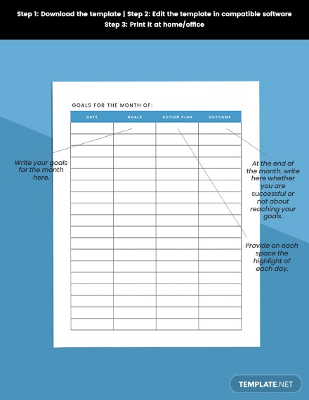 Monthly Planner Editable