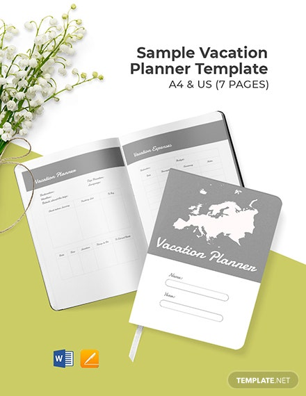 Free Sample Vacation Planner Template