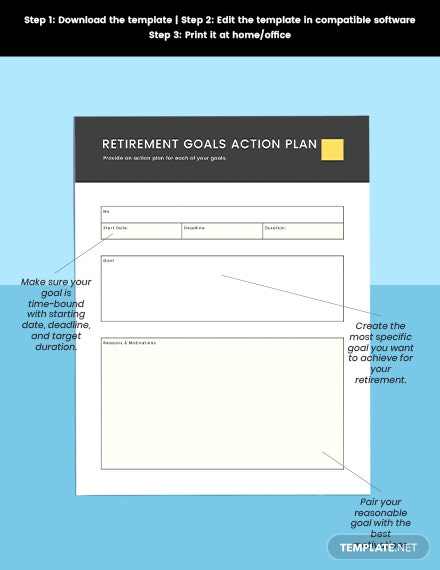 Retirement Financial Planner Editable