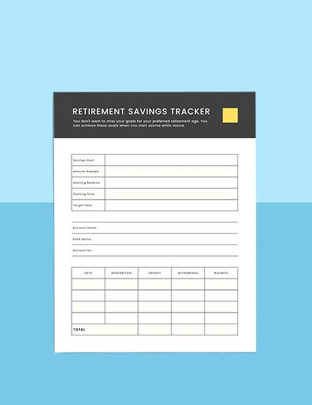 Retirement Financial Planner Example