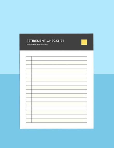 Retirement Financial Planner Format