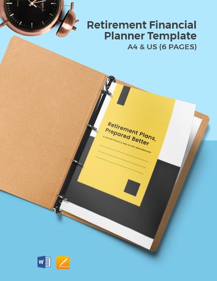 Retirement Financial Planner Template