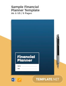 Free Sample Financial Planner Template