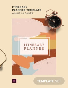 Free Sample Itinerary Planner Template