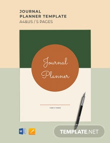 Journal Planner Template