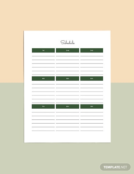 Journal Planner Template