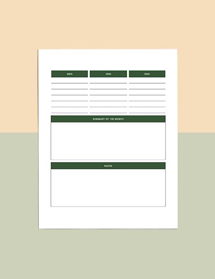 Printable Journal Planner