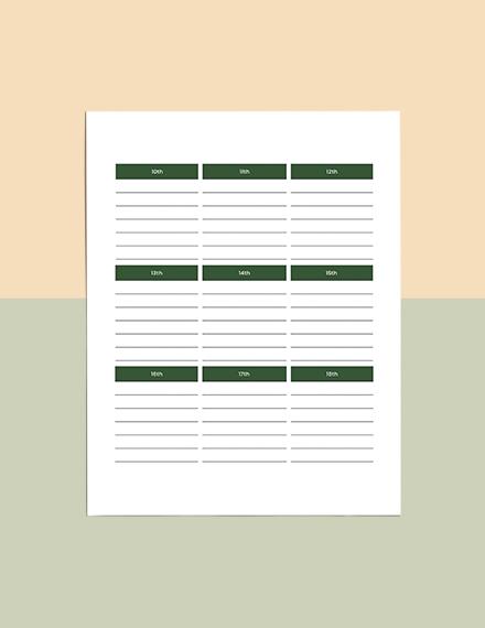 Journal Planner Download