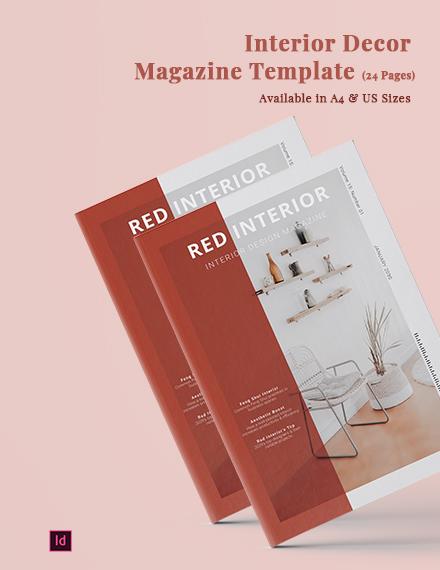 Interior Decor Magazine Template