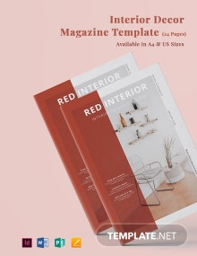 Interior Decor Magazine Template