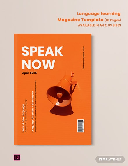 Language Learning Magazine Template