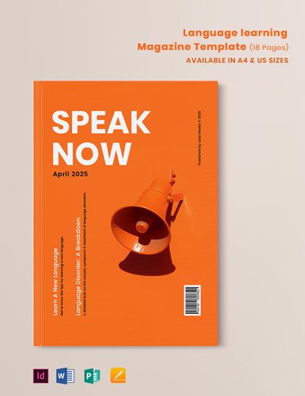 Language Learning Magazine Template