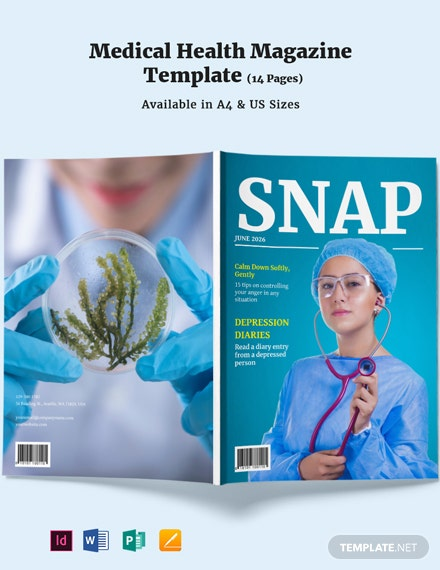 Medical Health Magazine Template