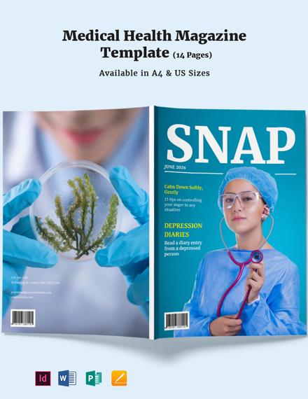 Medical Health Magazine Template