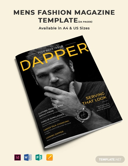 Men's Fashion Magazine Template