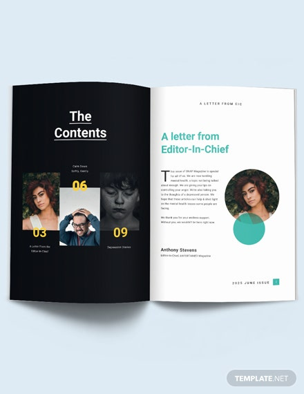 Mental Health Care Magazine Template