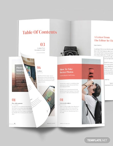 Photographer Magazine Guide Template