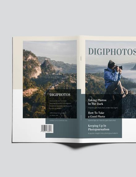 Sample Photographer Pricing Magazine