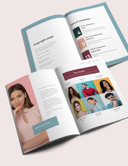 Minimal Fashion Lookbook Template