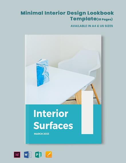 Minimal Interior Design Lookbook Template