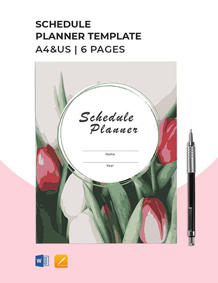 Schedule Planner Template