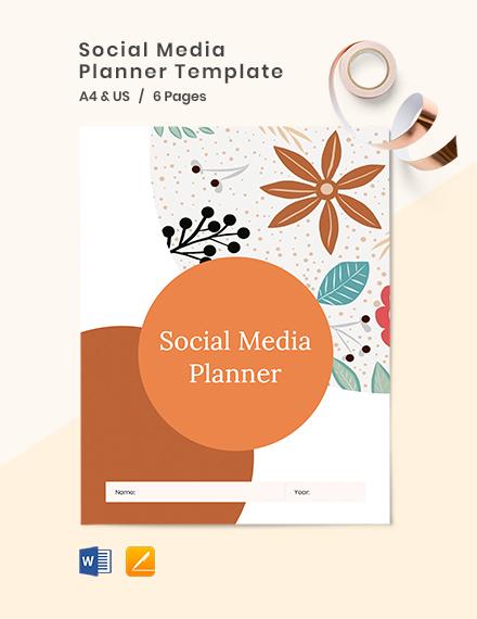 Social Media Planner Template