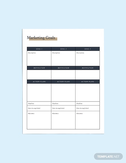 Printable Marketing Planner