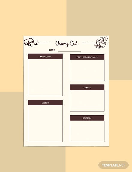 Sample Meal Planner