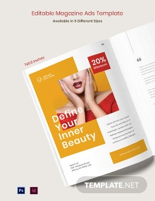 Free Editable Magazine Ads Template