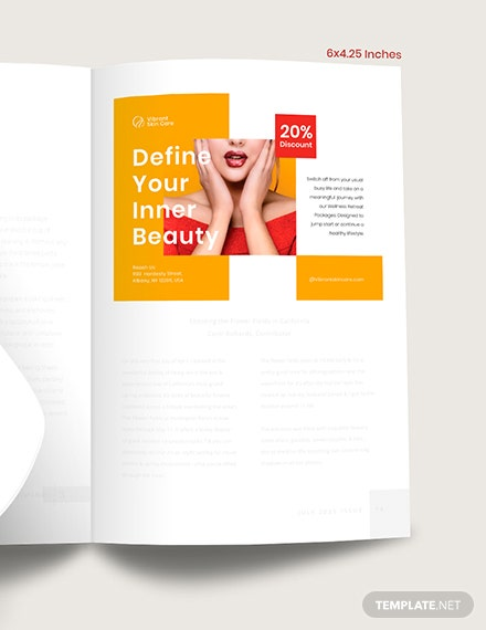 Editable Magazine Ads Example
