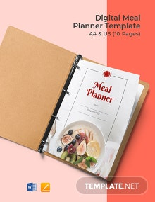 Digital Meal Planner Template