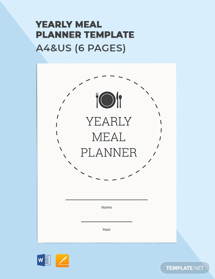 Yearly Meal Planner Template