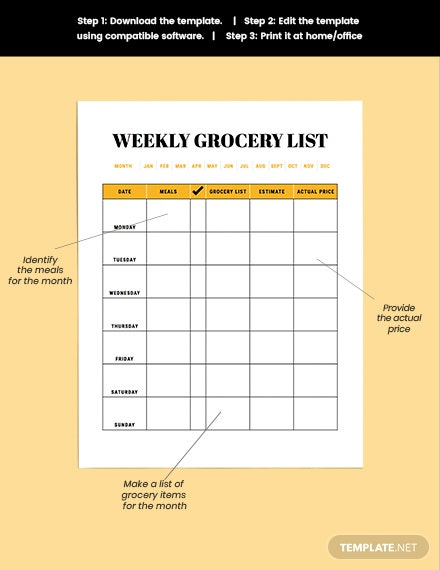 printable Monthly meal planner