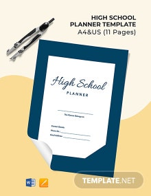 High School Planner Template