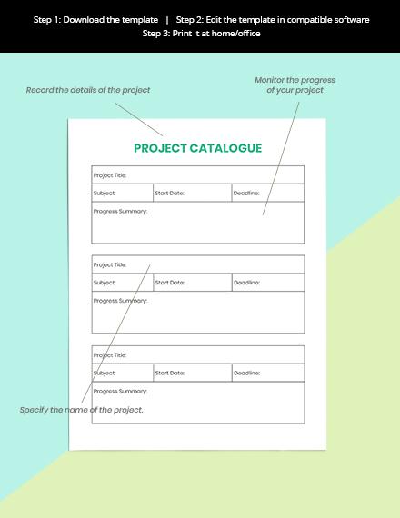 Project School Planner Format